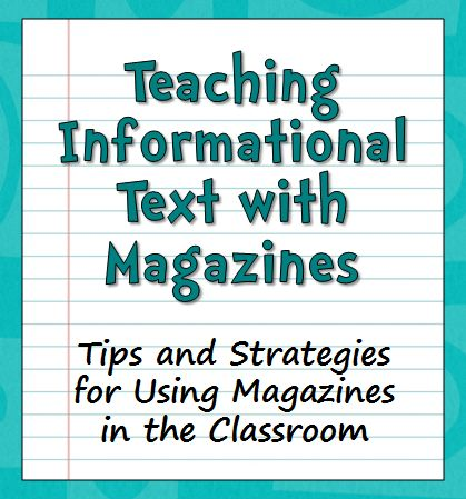 Teaching Informational Text with Magazines - Blog post with tips and strategies ... and a giveaway for a subscription to Sports Illustrated for Kids