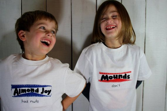 Boy girl twins funny quot almond joy has nuts mounds don t quot t shirt set