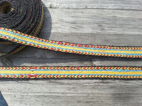 Tablet weaving braid, linen, card weaving trim, pure linen