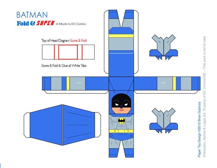 Batman Papercraft Template by Goobeetsa