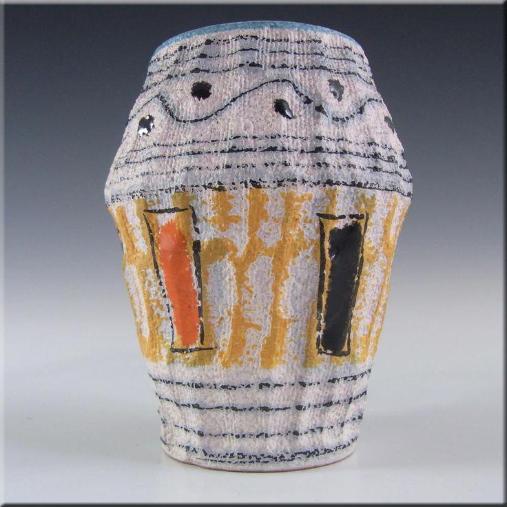Fratelli Fanciullacci Italian Ceramic Pottery Textured Vase - £20.00