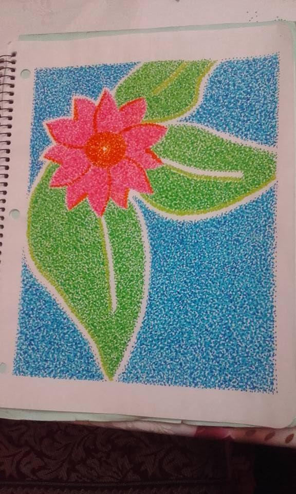 Flor (puntillismo)