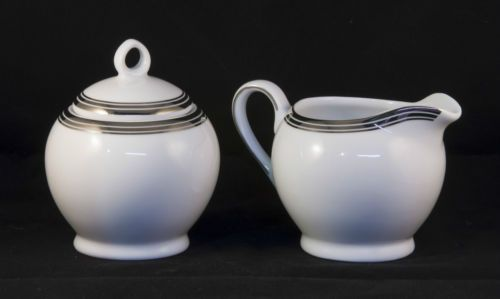 Royal Doulton Platinum Lux Creamer and Sugar Set With Lid, UNUSED 2006 in Pottery & Glass, Pottery & China, China & Dinnerware, Sadler | eBay