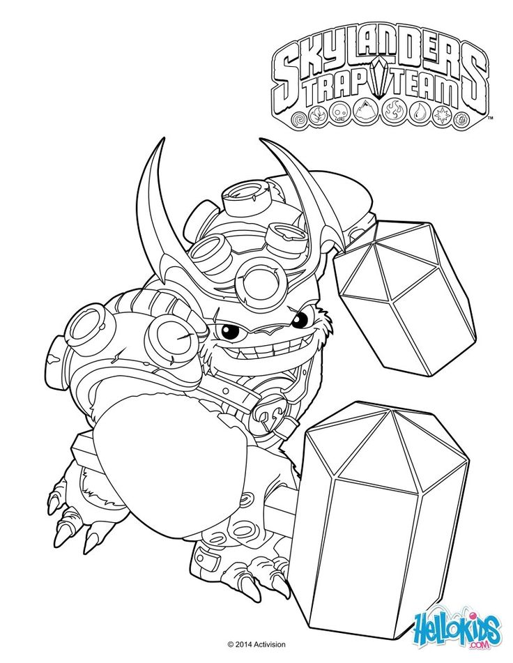 Lovely Skylander Coloring Pages