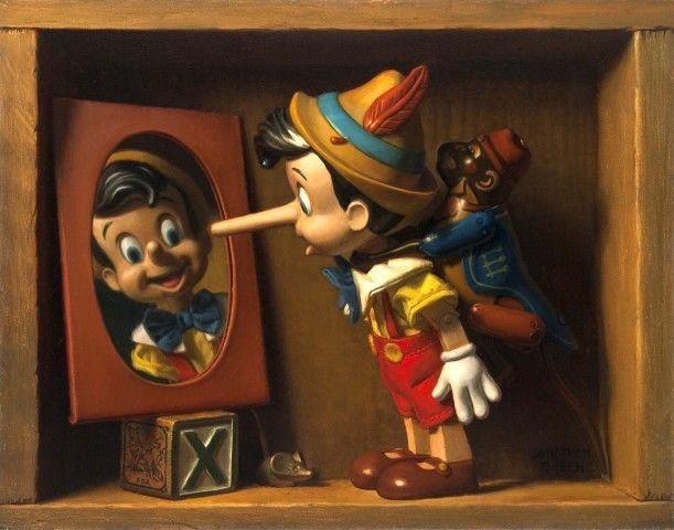 Jonathan Queen Fine Art, Toy Narrative Paintings - oil-paintings-2009-present