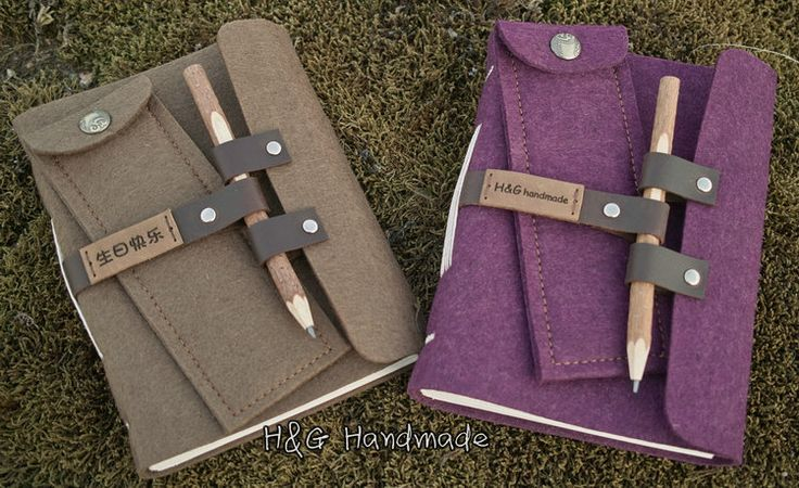 Leather Wood pencil bandage tapirs handmade  vintage laptop diary, notebook  (pen/ pencil bag)-inNotebooks from Office & School Supplies on Aliexpress.com | Alibaba Group