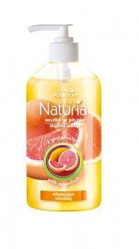 Mydło w płynie odświeżające z grejpfrutem Naturia body. Skóra jest oczyszczona, nawilżona, gładka w dotyku i przyjemnie pachnąca.