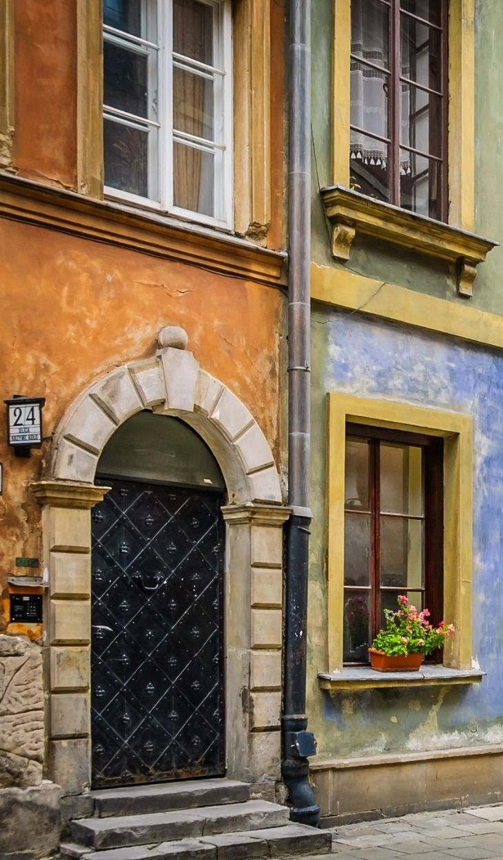 Colorful Streets of Warsaw, Poland