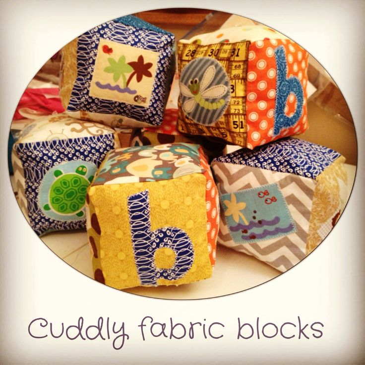 Personalized, handmade, soft fabric, stuffed blocks. Precious shower gift, adorable for the nursery or playroom