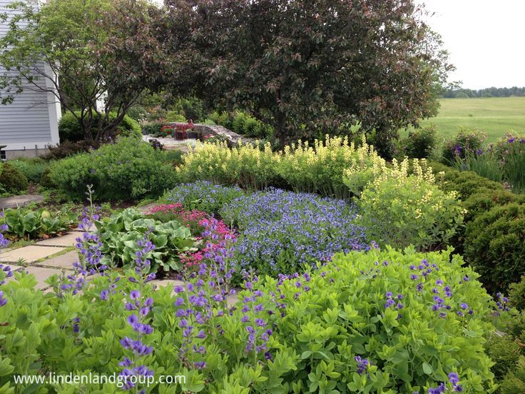 One Quarter Of A Sundial Garden With Concentric Circles Of Perennials  Layered By Color And Height