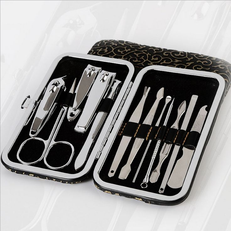 12pcs Portable Stainless steel Nail Art Manicure Set Pedicure Scissor Tweezer Knife Earpick Nail Clipper Kit. Click visit to buy #Nail #Tool #NailTool