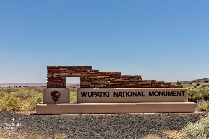 Wupatki National Monument Arizona Zufahrt Eingang