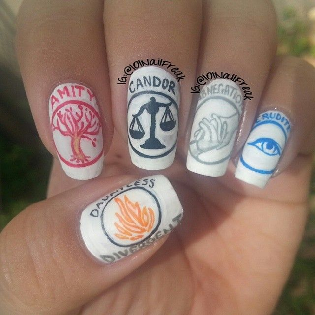 101nailfreak divergent movie #nail #nails #nailart