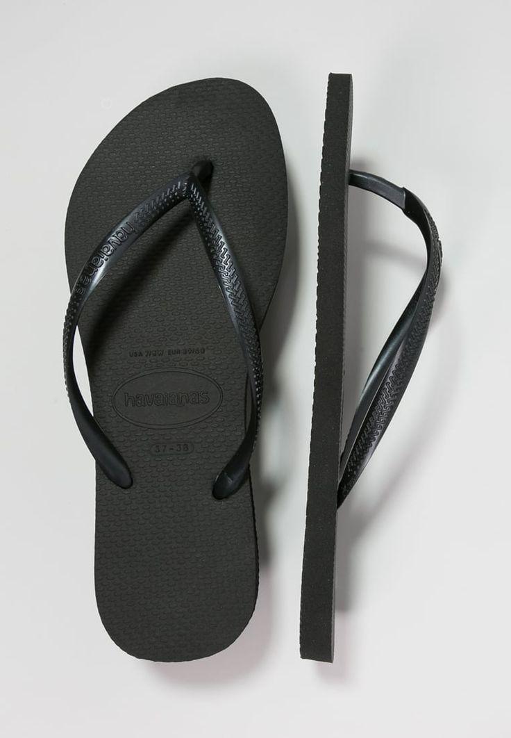 Slippers & waterschoenen Havaianas SLIM - Teenslippers - black Zwart: 25,95…
