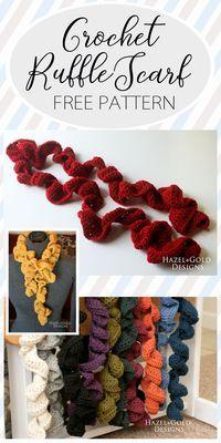Make yourself an awesome crocheted ruffle scarf. Warm and cute!  ruffle scarf, crochet scarf, crochet ruffle scarf, free crochet pattern, free scarf crochet pattern, handmade crochet, free pattern, diy crochet