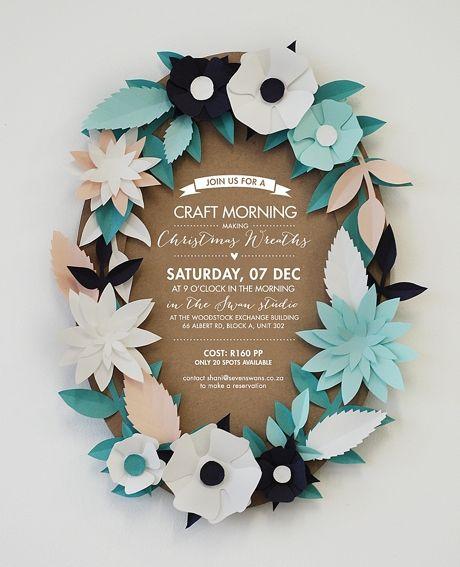 Christmas Wreath Workshop - Blog - Seven Swans Wedding Stationery