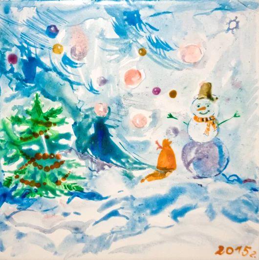 Снеговик в новогоднюю ночь Снеговик стоит и сторожит сказку, чтобы все дети получили подарки и праздник на Новый год! Детская тематика Керамическая плитка для кухни и ванной комнаты 20X20  Краска по керамике Комментируйте, плюсуйте, задавайте вопросы, заказывайте :) #снеговик #новыйгод #керамическаяплитка #рисование #сюжет #ваннаякомната #кухня #изо #рисуемнаплитке #рисованиенаплитке #рисованиенакерамике #плитканакухню #плитканазаказ #плиткавванную #мастеркласспорисованию #сказкидлядетей