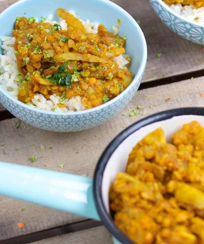 Curry de lentilles corail au fenouil - Bikini et Gourmandise
