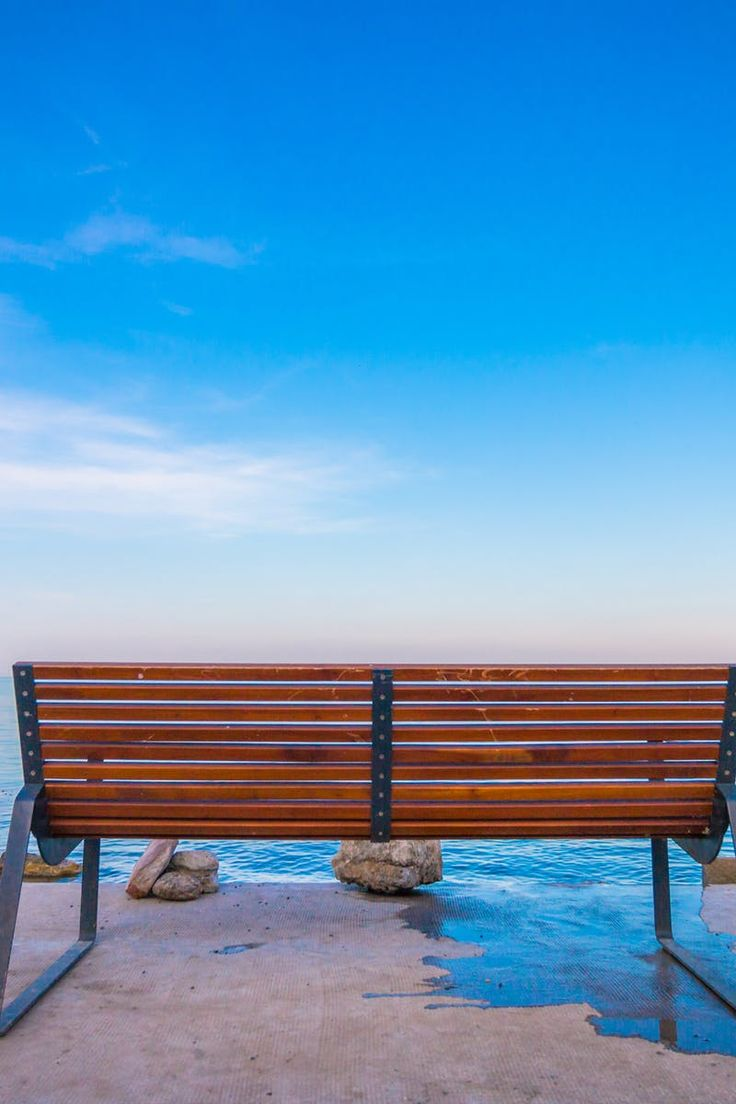 Free stock photo of bench, sea, sky, water