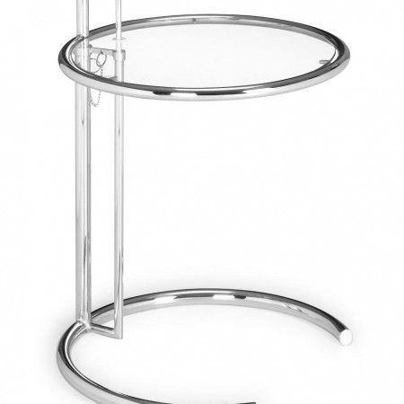 Attractive Modern Glass And Chrome Side Table Eileen