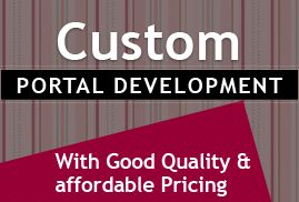 Custom Portal Development  We offer portal development services for Healthcare, finance, insurance, travel, Real Estate, hotel, Manufacturing, education, transportation, printing, pharmaceuticals, energy, Shipping, e-Learning and Retail.  http://ecodetechnolabs.net/custom-portal-development.html