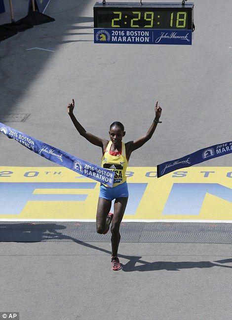 Atsede Baysa... Boston Marathon winner 2016