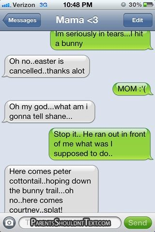 funny easter bunny text message