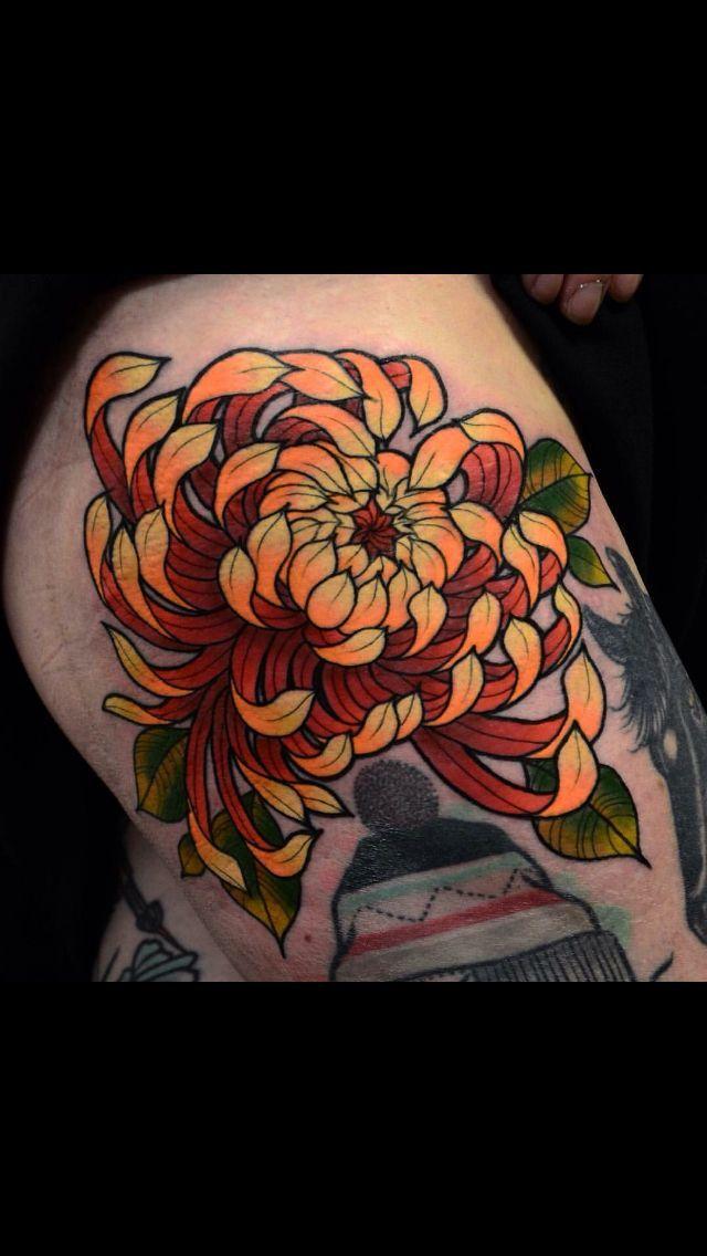 Chrysanthemum Japanese Tattoo Traditional Tattoo Flowers