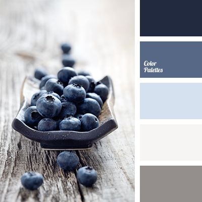 Cold colors of light gray, white, blue, and dark blue go together just perfectly. This combination of colors is perfect for decoration of rooms, located in.