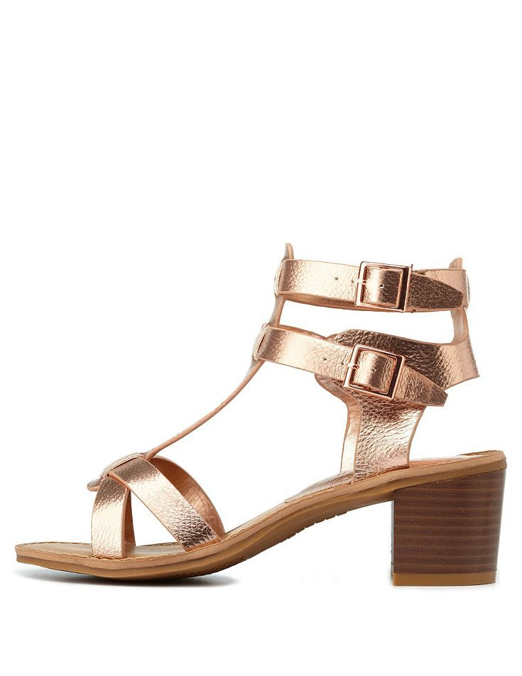 1000  images about gold block heels on Pinterest   Heeled sandals ...