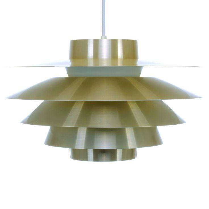 VERONA - pendant by Sven Middelboe for Nordisk Solar Compagni - 1980s. Danish vintage design lighting. Super attractive brass hanging lamp. by DanishVintageDesigns on Etsy