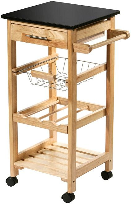 Movable Kitchen Storage Trolley Fruit Vegetable Cart With Drawer Basket Rack Drawers