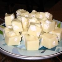SHUT THE FRONT DOOR! Lemon Meringue Fudge: 18 oz good quality white chocolate chips, 1 bottle pure lemon extract, 1 can sweetened condensed milk, 2 cups miniature marshmallows
