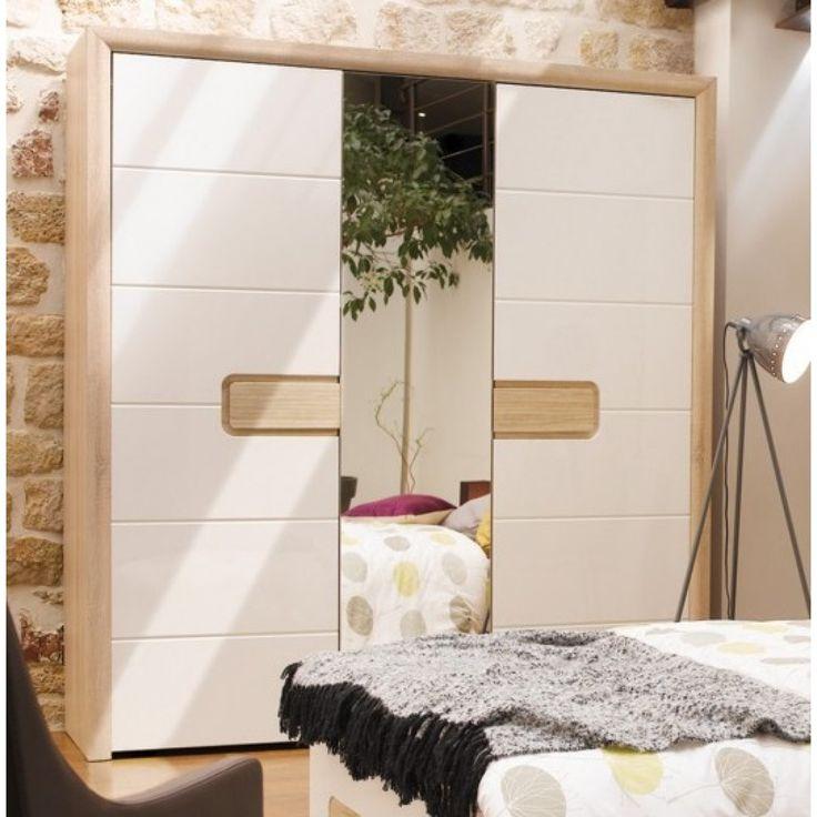 Armario 3 puertas, 1 con espejo, TIZZIANO