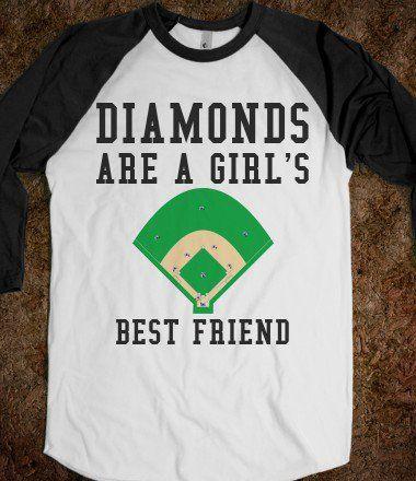 DIAMONDS ARE A GIRL'S BEST FRIEND - glamfoxx.com - Skreened T-shirts, Organic