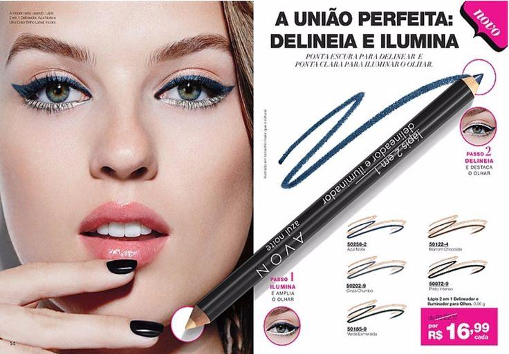 União perfeita, delineador e iluminador em um lápis só! E da Avon a melhor maquiagem do Brasil! Avon pronta entrega é nos site Grazi Cosméticos