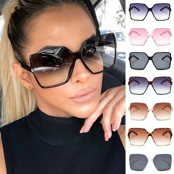 Fashion Gorgeous Womens Polarized Lens Fashion Oversized Round Sunglasses UV400
