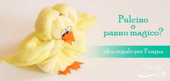 mami chips & crafts: Idea regalo per Pasqua: creare un pulcino da un panno in microfibra