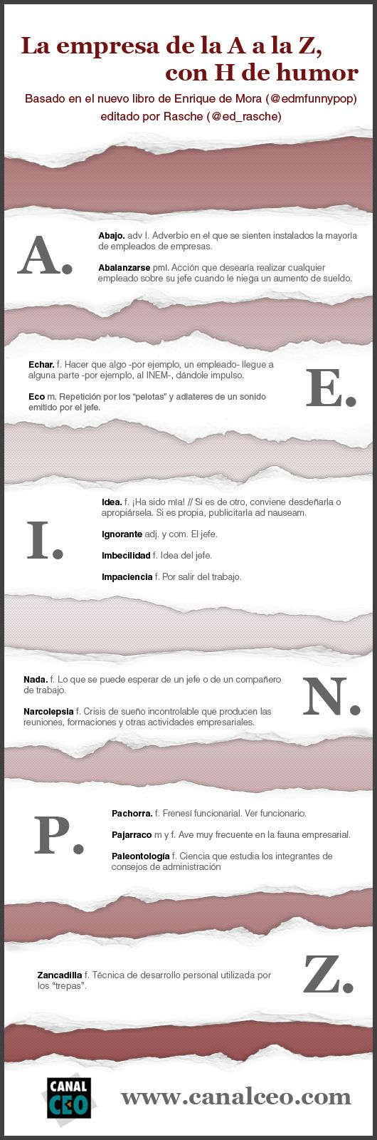 La empresa de la A a la Z (con humor) #infografia