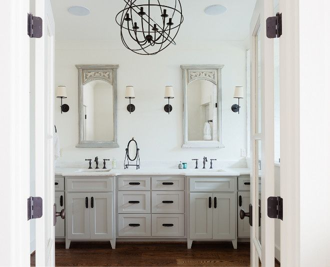 White Bathroom With Grey Vanity. White Bathroom With Grey Vanity And Rubbed  Oil Bronze Hardware And Lighting. White Bathroom With Grey Vanity Willow  Homes Part 87