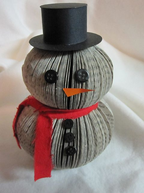 Leuke sneeuwpop van een oud boek. Leuke variatie op de egel en kerstboom!