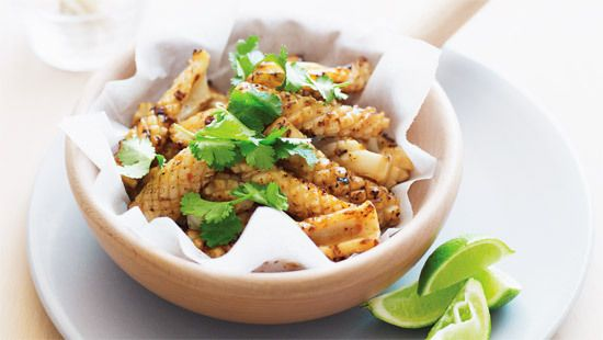 Barbecued chilli garlic squid