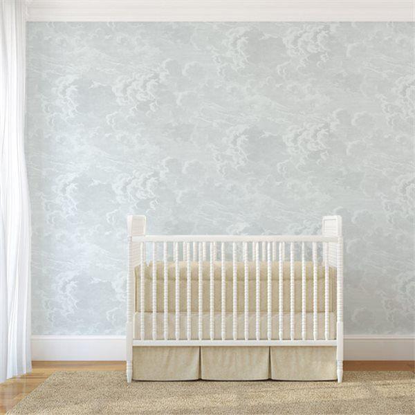 Cole & Son Fornasetti Nuvolette Clouds wallpaper blue nursery