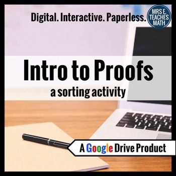 Introductory Geometry Proofs Digital Activity for Use in Google Drive - Prefect for 1:1 Classrooms!