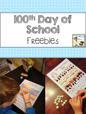 100th Day of School  Grab this free pack of fun activities that you can use with your students for a 100th Day of School celebration!  100th day of school Lauren Thompson Mrs. Thompson's Treasures