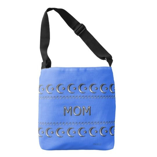 Mother's-Day_MOM-Moons & Stars(c)Spring Blue* Tote Bag