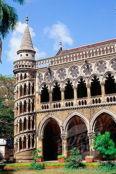 Library building in Venetian Gothic style, University of Mumbai, Mumbai,  India | SuperStock