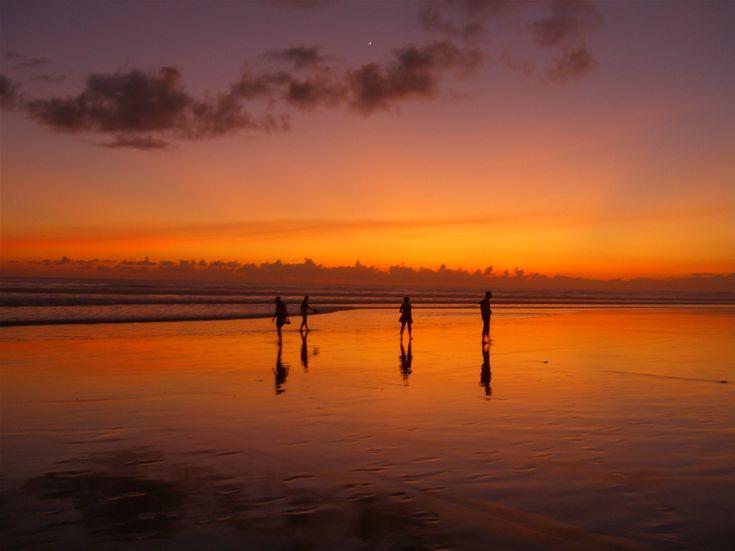 "Kuta Beach, often referred to as ""Sunset Beach"" by tourists"