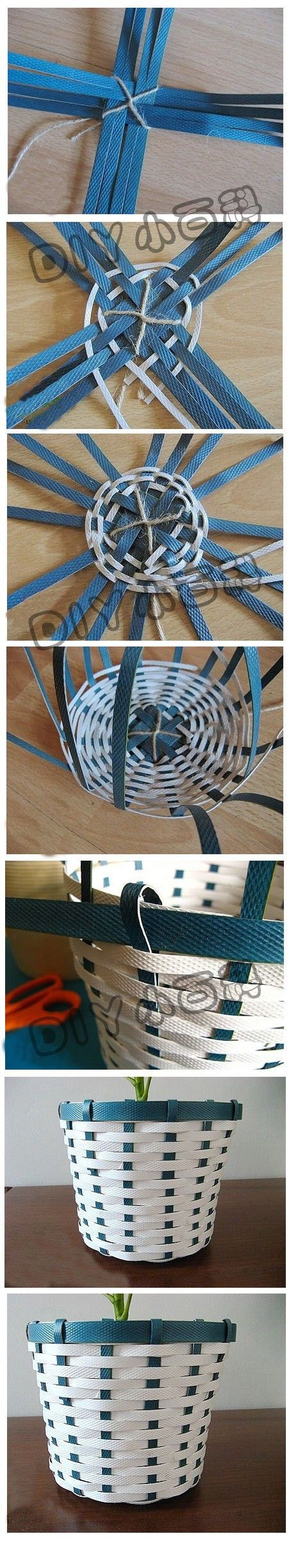 images for weaving another type of basket. Instructions are in another language, but the pictures seem self-explanatory. http://www.duitang.com/people/mblog/9964626/detail/#