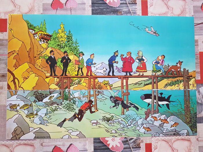 Schitterend En Onmogelijk Te Vinden Poster Van Kuifje En Sharks Lake Belvision Productions Aangeboden Door Levitan Meubels In Parijs In Kuifje Poster Parijs